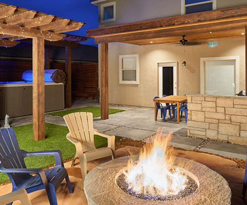 GO Designs El Paso's professional landscape and construction services can provide a low maintenance and beautiful backyard.